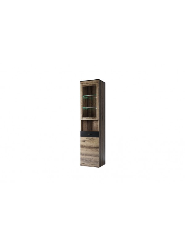 Шкаф с витриной JAGGER 1V1D1SN