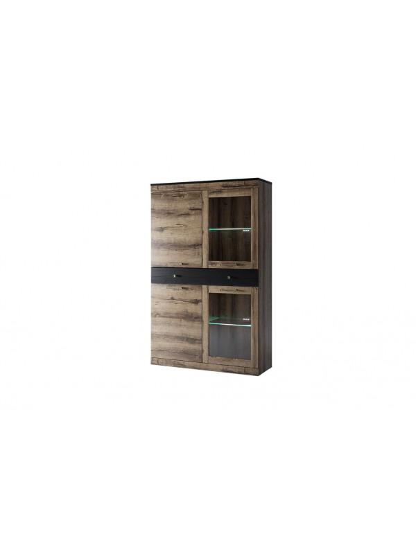 Шкаф с витриной JAGGER 2V2D1S