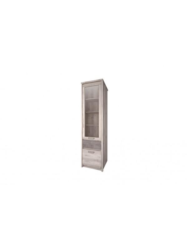 Шкаф с витриной JAZZ 1V1D1S каштан найроби / оникс