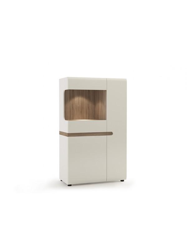 Шкаф LINATE 3D-1S/TYP32 c витриной + возможна подсветка