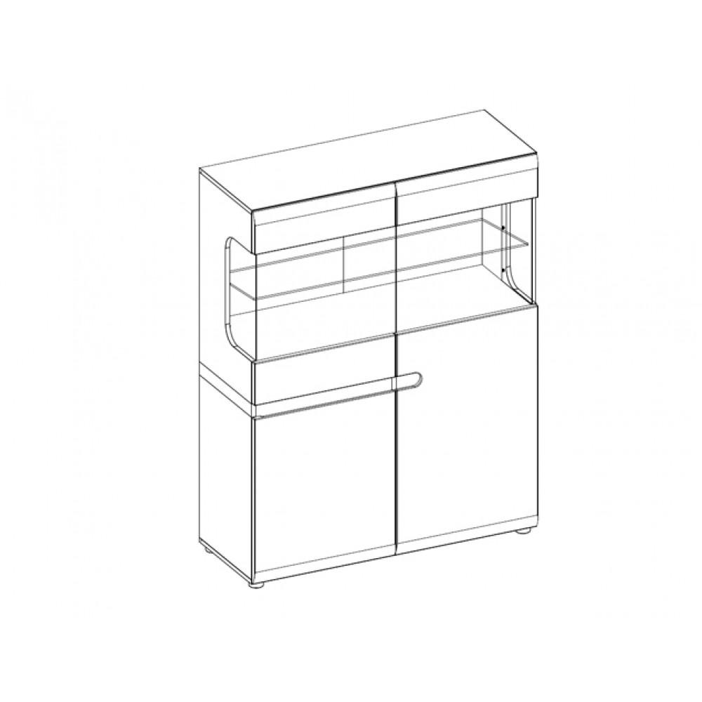 Шкаф LINATE 3D-1S/TYP 33 c витриной  + возможна подсветка Anrex  LINATE 3D-1S/TYP 33
