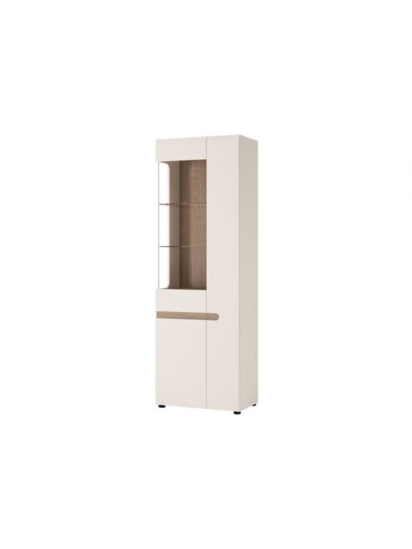 Шкаф LINATE 3D/TYP 01 L c витриной + возможна подсветка