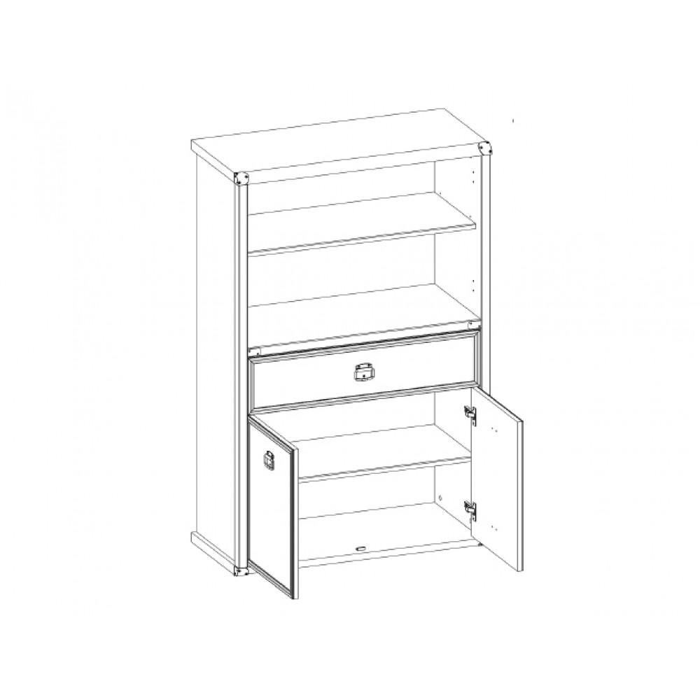 Шкаф MAGELLAN 2D1S открытый Anrex  MAGELLAN 2D1S