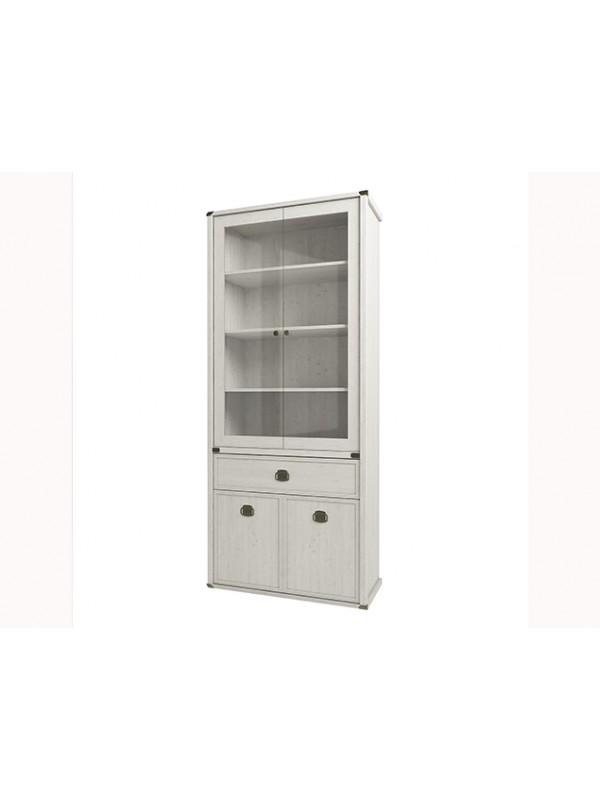 Шкаф MAGELLAN 2V2D1s с витриной  + возможна подсветка