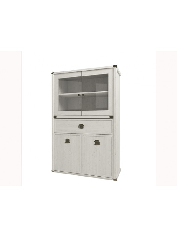 Шкаф MAGELLAN 2V2D1SL с витриной  + возможна подсветка