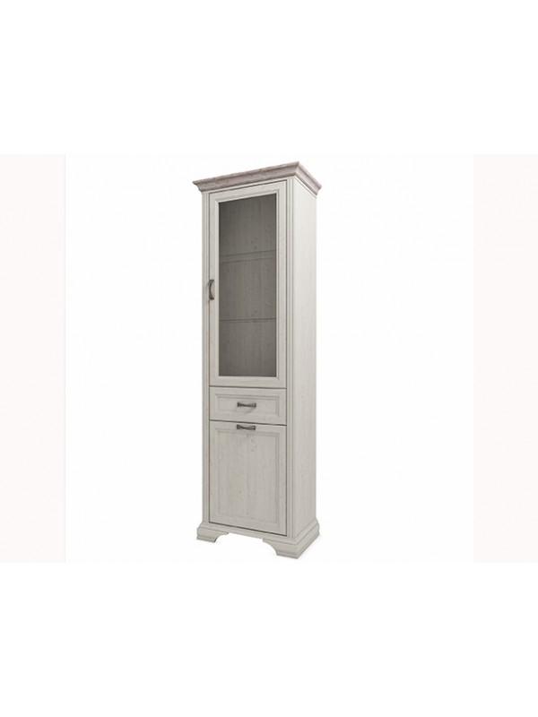 Шкаф MONAKO 1V1D1S с витриной + возможна подсветка