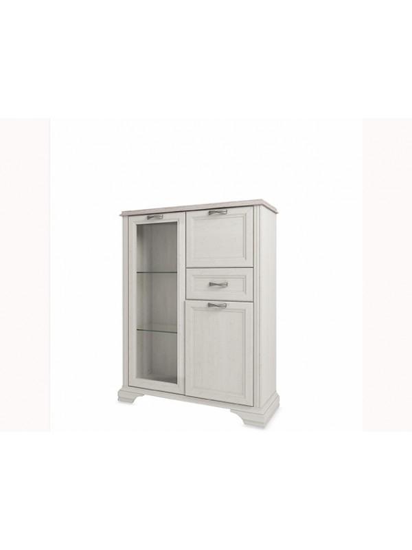 Шкаф MONAKO 1V2D1S с витриной + возможна подсветка