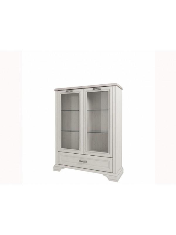 Шкаф MONAKO 2V1SL с витриной + возможна подсветка