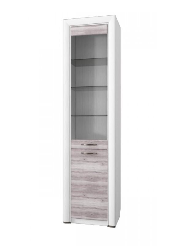 Шкаф-витрина OLIVIA 1V1D + возможна подсветка