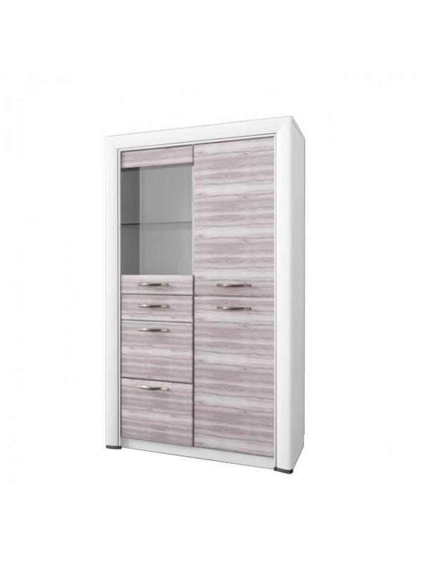 Шкаф-витрина OLIVIA 1V2D3S + возможна подсветка