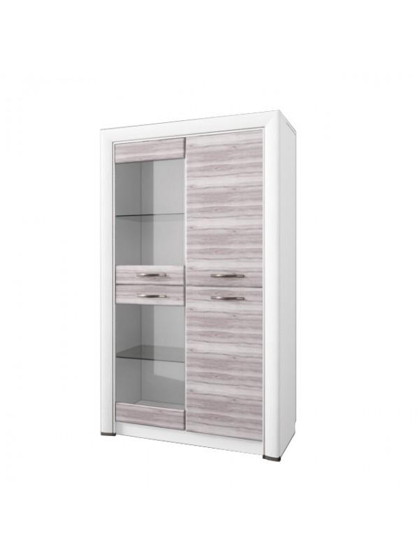 Шкаф-витрина OLIVIA 2V2D + возможна подсветка