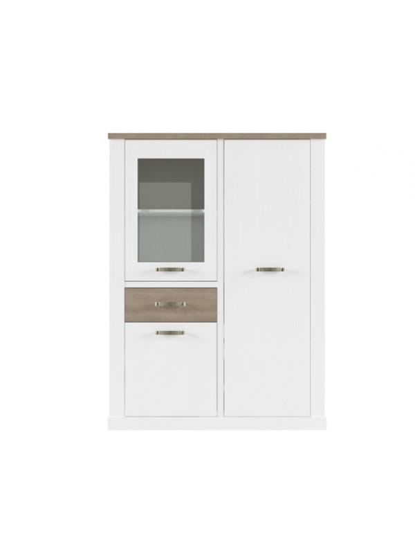 Шкаф PROVANS 1V2D1S c витриной +возможна подсветка