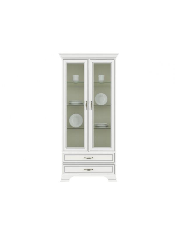 Шкаф TIFFANY 2V2S с витриной + возможна подсветка