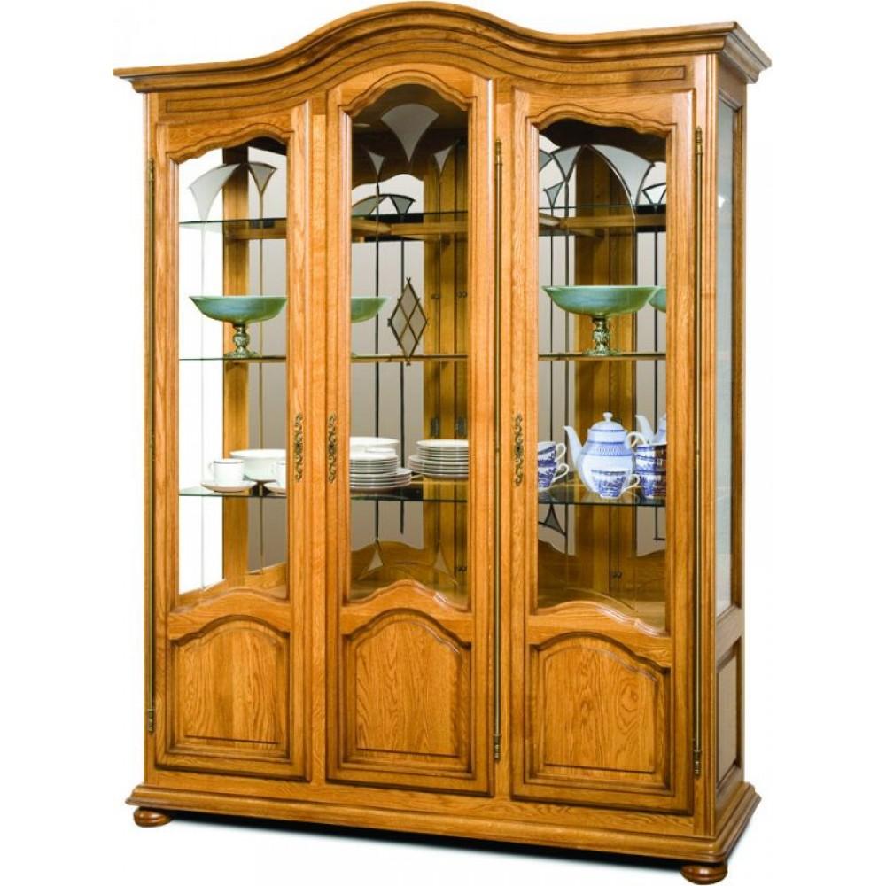 Шкаф с витриной Давиль ММ-126-15/03 (ст.декор) Молодечномебель  ММ-126-15/03 (ст.декор)