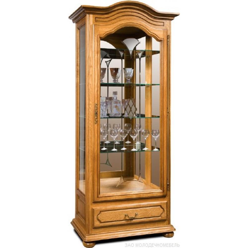 Шкаф с витриной Давиль ММ-126-54 (лев. декор. стекло) Молодечномебель  ММ-126-54