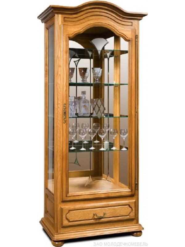 Шкаф с витриной Давиль ММ-126-54 (лев. декор. стекло)