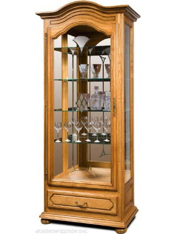 Шкаф с витриной Давиль ММ-126-54П (правый, декор.стекло)
