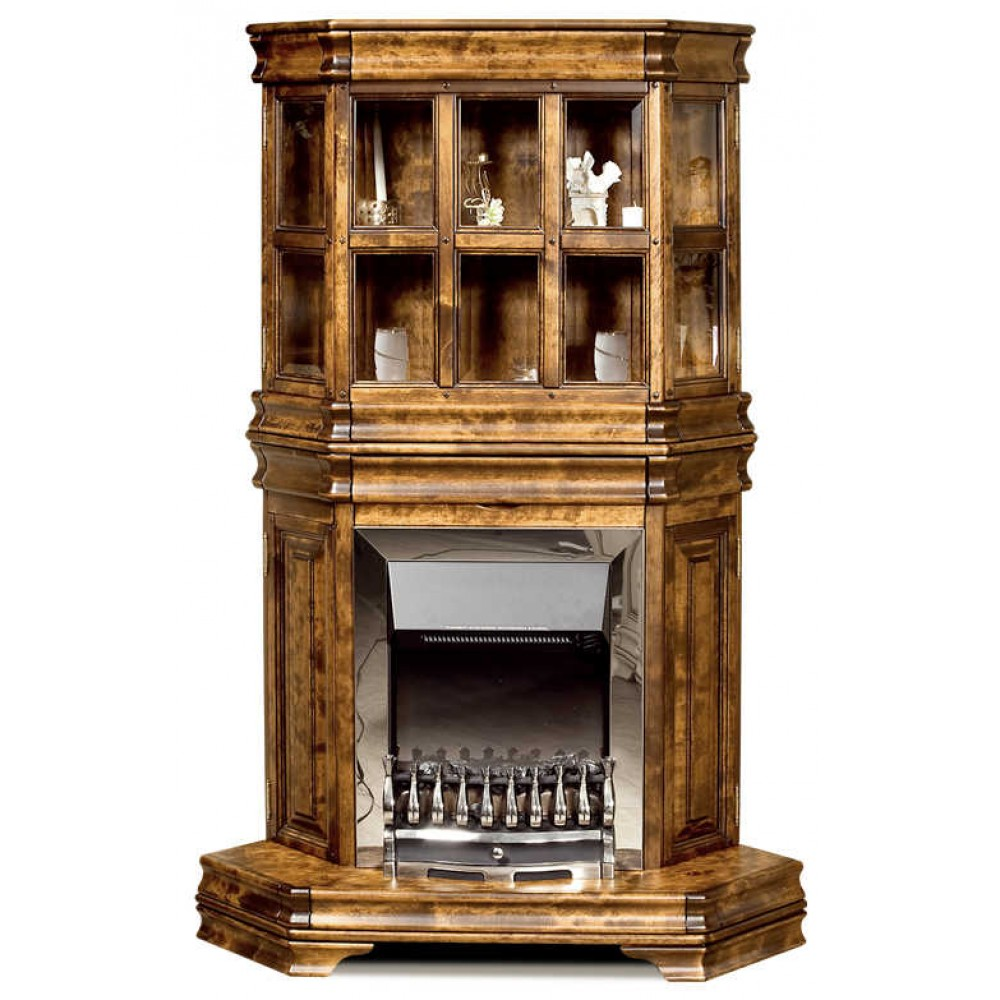Тумба угловая с витриной (обрамление камина) Маэстро СКМ-002-29 Студия К мебель  00000027030