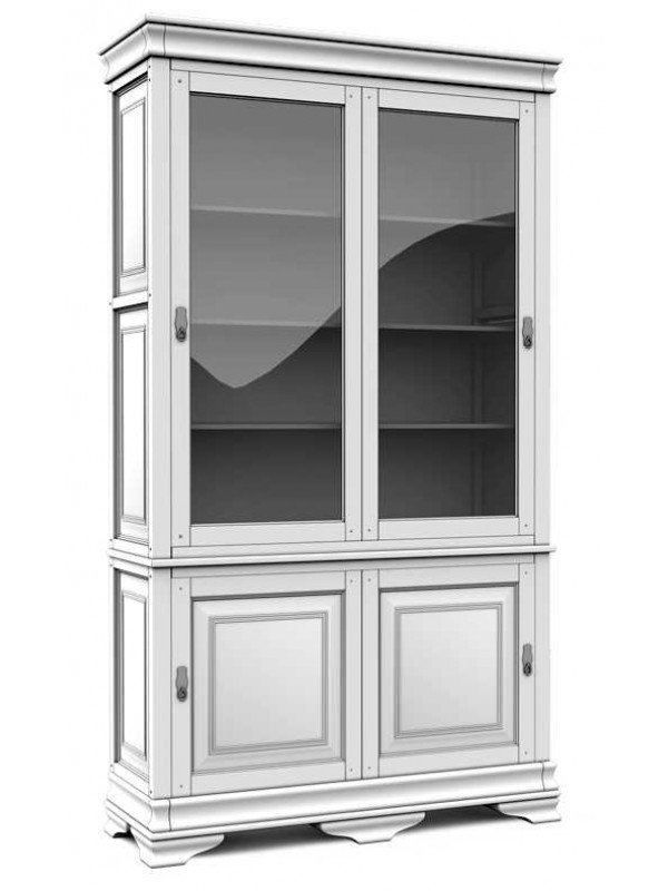 Шкаф с витриной «Маэстро» СКМ-002-27