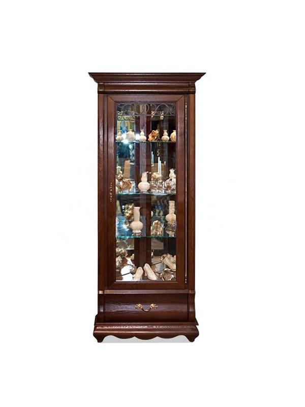 Шкаф Оскар с витриной угловой ММ-210-01У