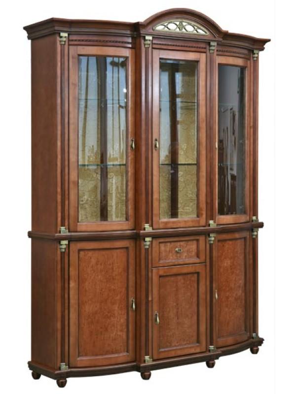 Шкаф с витриной Валенсия 3 П244.01