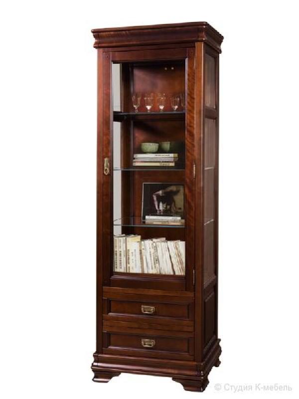 Шкаф с витриной «Маэстро» СКМ-002-25-01