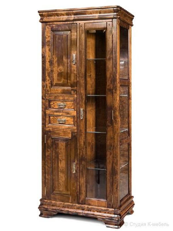 Шкаф с витриной «Маэстро» СКМ-002-63