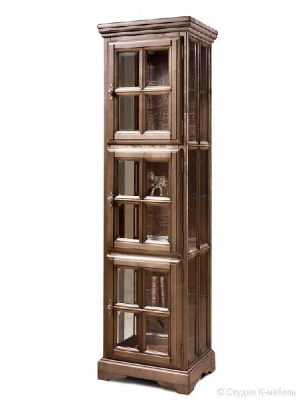 Шкаф с витриной «Сальвина» СКМ-003-50