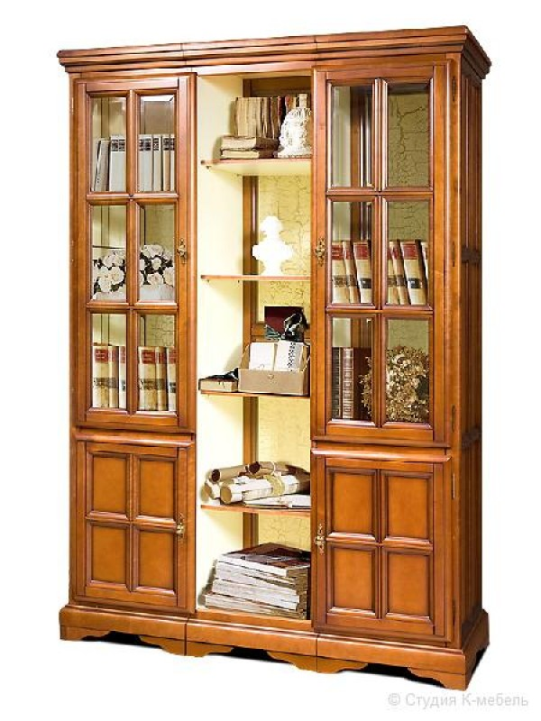 Шкаф для книг «Сальвина» СКМ-003-35