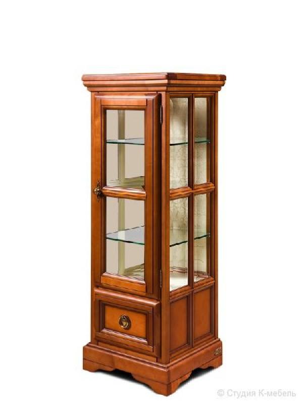 Шкаф с витриной «Сальвина» СКМ-003-43
