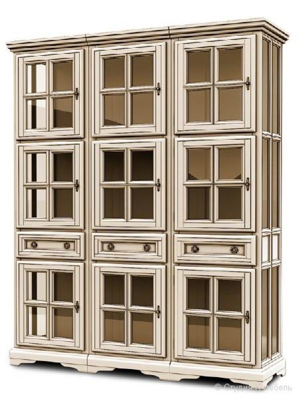 Шкаф с витриной «Сальвина» СКМ-003-33