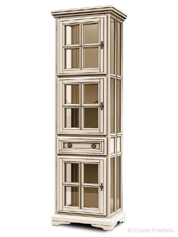 Шкаф с витриной «Сальвина» СКМ-003-32