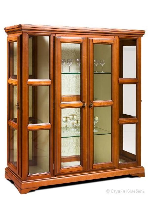 Шкаф с витриной «Сальвина» СКМ-003-36