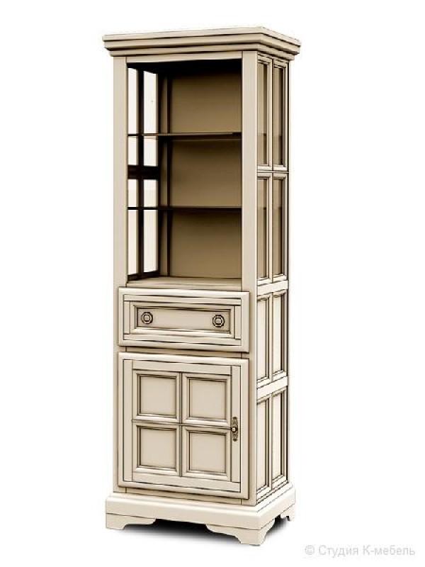 Шкаф с витриной «Сальвина» СКМ-003-40-01