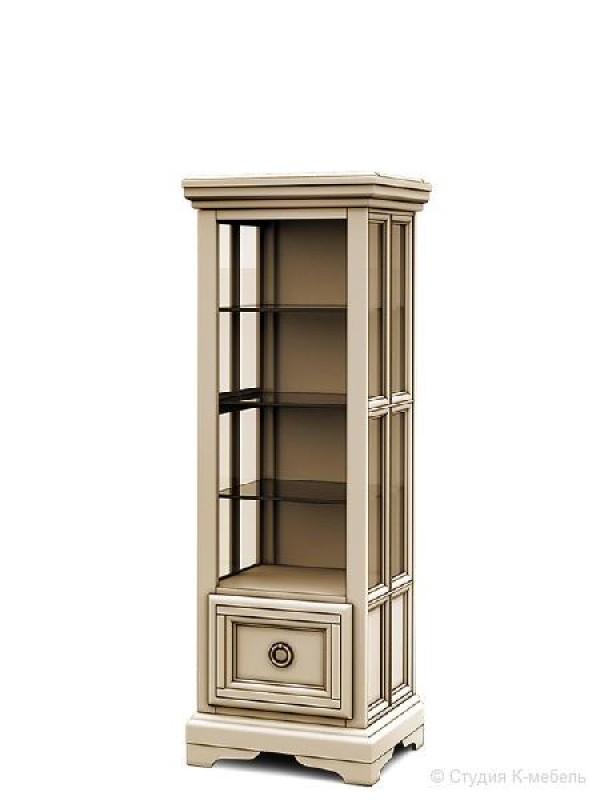 Шкаф с витриной «Сальвина» СКМ-003-42