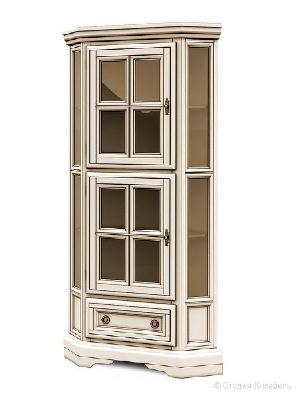 Шкаф с витриной угловой «Сальвина» СКМ-003-51