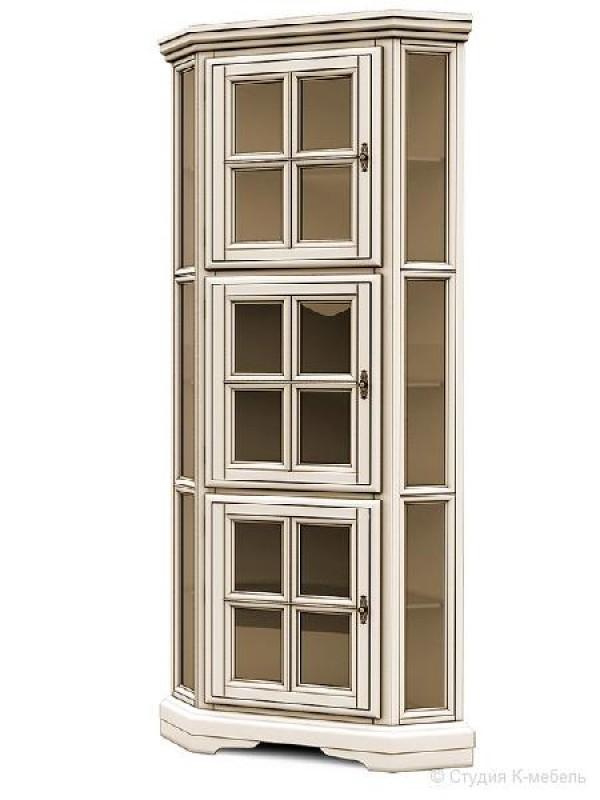 Шкаф с витриной угловой «Сальвина» СКМ-003-52
