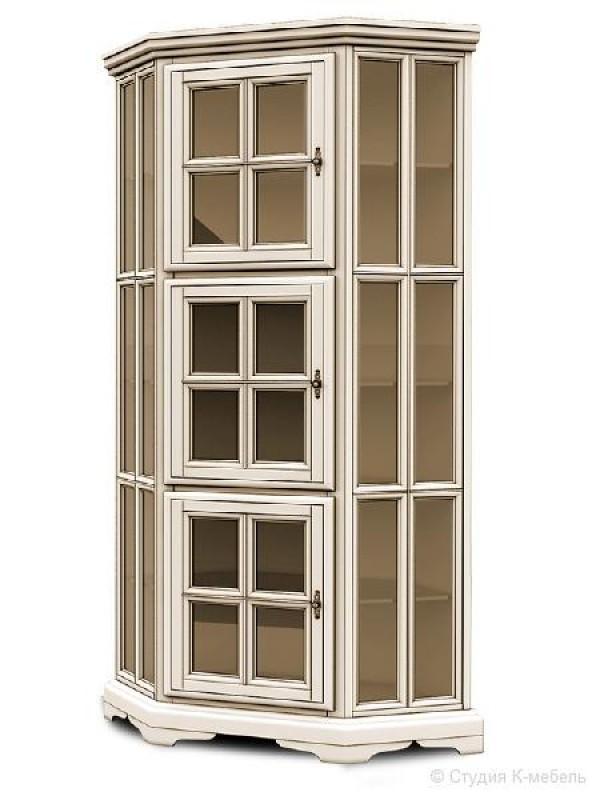 Шкаф с витриной угловой  «Сальвина» СКМ-003-53
