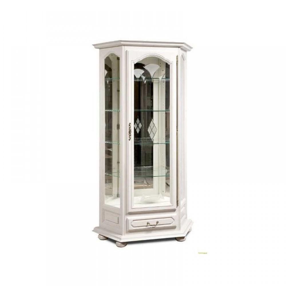 Шкаф с витриной Давиль ММ-126-13/01 (декор.стекло) Молодечномебель  ММ-126-13/01