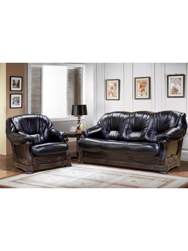 Мягкая мебель Милан 3р+12м - кожа 3023
