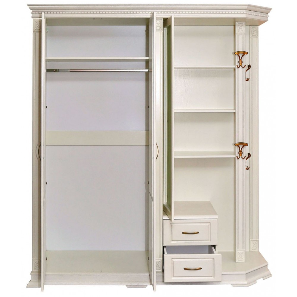 Шкаф «Верди Люкс 1» комбинированный для прихожей П433.01-01 Пинскдрев  П433.01-01