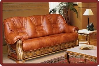Кожаный диван  пинскдрев